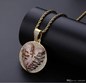 14K Gold Plated Hip Hop Iced Out Hollowed Out Lung Pendant Necklace Mens Micro Pave Cubic Zirconia Diamonds Heart-Breaking with 24 inch Rope