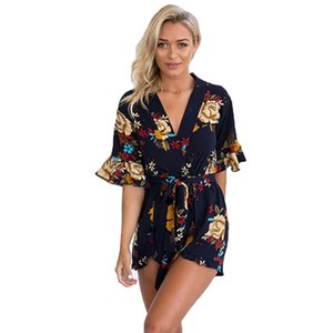 2020 Fashion Women Jumpsuits Rompers Casual European Style Summer Playsuits Elegant Harajuku Vintage Clothing Sexy T200704