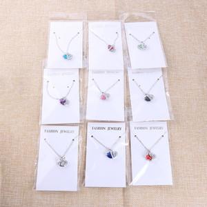 Corazón Colgante Collar para Las Mujeres de Moda 925 Cadenas de Plata de ley Encantos Joyería Zircon Cristal Diamante Rhinestone Señoras Collar de Amor