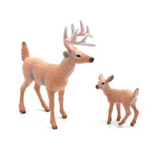 Simulation Cerf De Noël Décorations Pour La Maison Blanche Renne Simulé Jouet Xmas Elk Fenêtre D'affichage Nouvel An Modèle Enfants