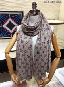 monograma cachecol de lã de seda fio de cashmere ouro 2019 novas mulheres de design de espessura cachecol quente conforto lenço