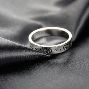 Narrow Santo Anéis Pure 925 prata esterlina jóias vintage feitos à mão anéis antigos