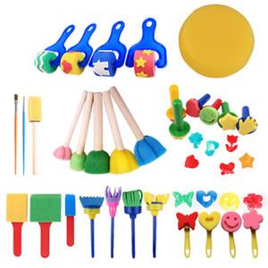 Toptan yeni boyama çizim Sanat oyuncaklar Sünger Fırça 30 adet Set çocuk çocuk Eğitim büyüme graffiti malzemeleri
