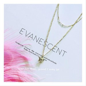 2019 New hot-selling double star Pendant necklaces for women charming elegant Retro trendor