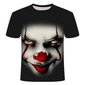 19ss Mens Designer Tshirts Fashion 3D Printed Short clown Sleeved Tees Mens womens Joker O-neck Tops Summer Male Clothing size S-6XL