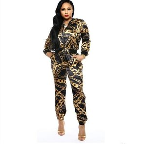 new fashion classic black gold print sexy large size sports suit ladies suit (two colors)