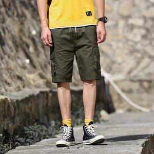 Pantalones masculinos Pop2019 y finos de tiempo libre de múltiples bolsos Guo Chao, pantalones de trabajo Haren Work