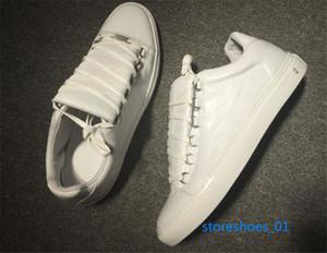 Balenciaga Casual Shoes Toptan Yeni xshfbcl Stil Nedensel Ayakkabı Adam Beyaz Kırmızı Buruşuk Düşük Kesim Sneaker Moda Arena Tasarımcı Ayakkabı Damla Nakliye Boyut 38-45