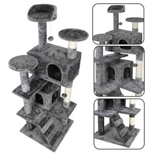 "52"" Gato RESISTENTE Árvore Torre Activity Center Grande Playing House Condo For Rest"