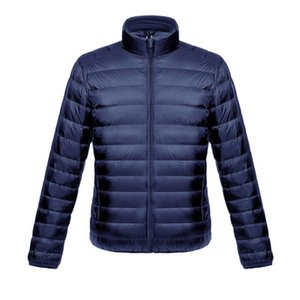 Jacket Men Moda de Down Coats Luz Thin White Duck Down Jacket masculino Parka revestimento exterior Casual Doudoune Homme