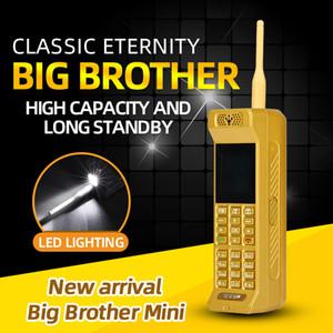 Lüks Klasik Mini Retro Altın Cep Telefonu Loud Hoparlör Parlak Flashligh Powerbank Hızlı Sihirli Voice Changer Bluetooth Cep telefonu Dial