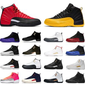 Basketball Shoes 12 12s Reverse Flu Game Dark Concord Dark Grey FIBA Taxi Black Mens Trainers Sports Sneakers Runners Online Sale