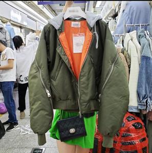 New Autumnn et d'hiver en coton rembourré Coat pour les femmes de grande taille en vrac 2019 BF Baseball Veste de costume épaissie étudiants Veste courte