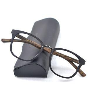 Holz-Glas-Rahmen Männer Holz Brillen Rahmen Myopie Sehstärke Myopie Brillen Optische