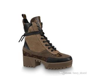 Las mujeres de la plataforma de las maravillas guardabosques botas, tacón alto desierto de la bota del tobillo de cuero de becerro Martin botas de lluvia zapatos tamaño 35-40