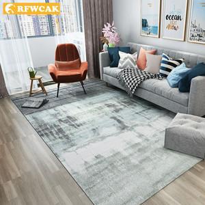 RFWCAK Nordic Abstrakte Tinte Malerei Teppich Für Wohnzimmer Schlafzimmer rutschfeste Große Teppich Bodenmatte Küche Teppiche Teppiche