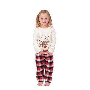 new Xmas INS Kids Adult Red Green Family Matching Christmas Deer Striped Pajamas Sleepwear Nightwear Pyjamas bedgown sleepcoat nighty free