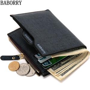 BABORRY 2018 Mode Hommes Portefeuilles portefeuille Homme Porte-cartes Zipper Portefeuille homme avec le sac Coin cadeau Carteira Masculina