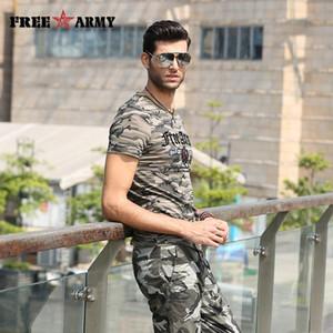 Designer d'été T-shirt MASCULIN manches courtes T-shirts de coton d'impression Drapeau militaire de camouflage Chemises Anti -Mosquito T-shirts Tops Tendance