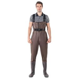 Giacche da caccia Donne da uomo Pantaloni da pesca impermeabili Pantaloni da pesca Bootfoot Cassa di gomma Cassa in gomma Vestito Stivaletti Vestito con pantalone mimetico