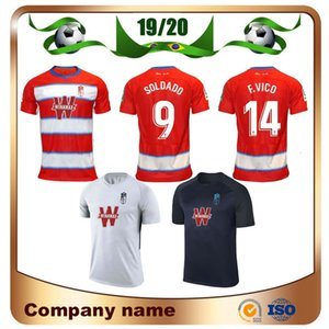 2020 غرناطة الرئيسية لكرة القدم جيرسي 19/20 غرناطة بعيدا # 14 F.VICO # 9 PUERTAS كرة القدم قميص 3 موحدة فاديلو POZO مخصص لكرة القدم