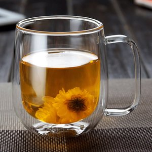 Double Wall Mug Coffee Mug Heat Insulation Office Mugs Double Coffee Glass Cup Drinkware Milk Travel Camping Mugs Drophipping