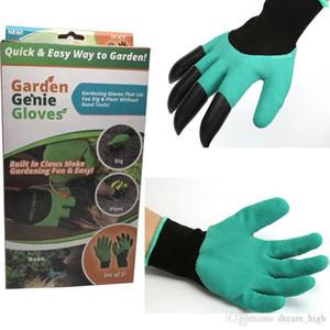 2017 luvas de borracha + poliéster Builders Garden Trabalho Genie látex com 4 maneira fácil Garras rápida para Garden Planting Cavando