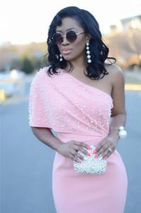Sexy Ladies Vacances Mode Vêtements Designer Pure Color avec Perle Robe Femme Femmes une épaule sans manches Robes solides
