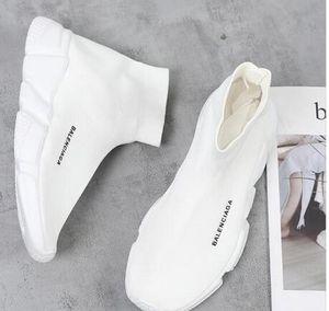 화이트 여성 남성 커플 신발 B 할인 속도 트레이너 부츠 양말 스트레치 - 니트 하이 탑 트레이너 신발 저렴한 운동화 블랙 캐주얼 부츠 W2Y9