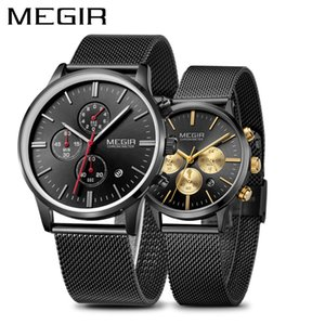 MEGIR Luxus Herrenuhren Erkek Kol Saati Fashion Marke Chronograph Quarz-Armbanduhr für Geliebte Montre Homme Set