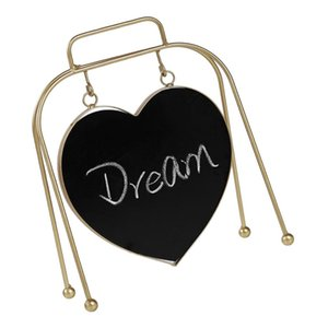 Nordic Style Mini Heart Shaped Blackboard Message Board With Metal Stand