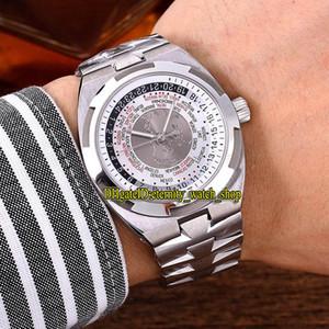 En iyi versiyonu Yurtdışı Dünya Saati 7700V 110A-B129 Asya 2836 Refit 5100 Otomatik Beyaz Dial ERKEK KOL 316L Çelik Kasa Kayış Spor Saatleri