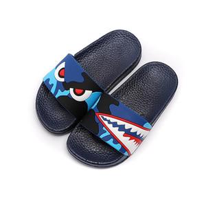 Enfants Chaussons Garçons Filles Chaussons Cartoon Monstre intérieur Slides extérieur Chaussures de plage Sandales d'été