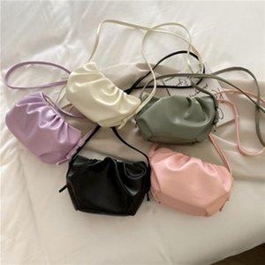 Women's bag 2020 spring and summer new Korean version of the shoulder bag solid color waist fashion tide diagonal