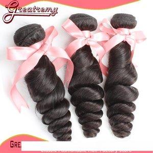 B Natural Color Brazilian Peruvian Hair Extensions Loose Wave 1pc 3 Way Part Top Closure 4 &Quot ;X4 &Quot ;With 3bundles Human Hair We