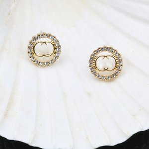 New small fragrance earrings women fashion round earrings a variety of styles to choose from