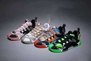 NS1 Sneaker Chaussures Hommes Designer Mesh et Suede Sneakers, mixte Matériaux Calfskin Formateurs Luxe Femmes Low Top Chaussures Casual muticolor
