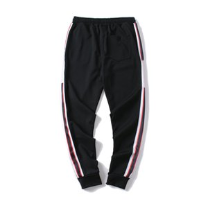 Mens Luxury Jogger Pants New Branded Drawstring Sports Pants High Fashion 4 Colors Side Stripe Designer Joggers