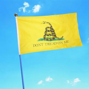 Yaratıcı Yılan Baskı Bayrak Moda Gadsden Bana Sırtı yok Bahçe Bayrağı Festivali Parti Ev Dekorasyon Bayrakları TTA836