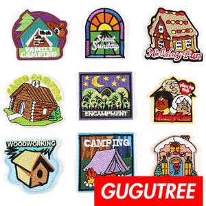 GUGUTREE ricamo casa patch patch distintivo Patch applique per cappotto, t-shirt, cappello, borse, maglione, zaino SP-273