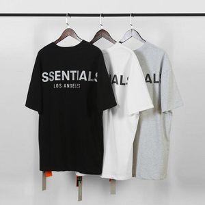 Furcht Gott Nebel Essentials-Mann-T-Shirts Sommer-T-Shirt Männer Buchstabedrucken kurze Hülsen-beiläufige Baumwolle Tops Tees