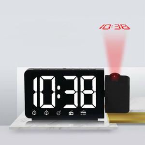 LED Projection FM Radio Voyage Horloge Projecteur numérique Tableau d'alarme Batterie de réveil enfants de bureau horloge électronique montre intelligente de nuit