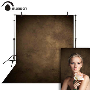 Allenjoy grungy backdrop photographic portrait dark brown solid color wedding photocall canvas cloth background for photo studio T200622