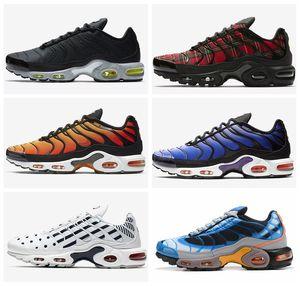 2019 azul blanco negro Plus TN SE hombre de los zapatos corrientes de los hombres Tns Femmes diseñador del amortiguador de entrenadores deportivos cestas de la zapatilla de deporte Scarpe des Chaussures