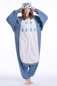 Yeni Hayvan Yetişkin Baykuş Pijama Yüksek Kaliteli Flanel Ayaklı Kigurumi Onesies Cosplay Kostümleri Kadın Erkek Için