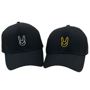 Bad Bunny Logo Папина Шляпа Вышитая Хлопковая Бейсболка Латинская Ловушка Реггетон Музыка Регулируемая Шляпка Snapback