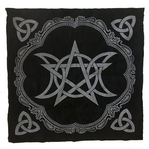 Pentagram triple de la luna Altar de tela 49x49cm Mantel Tarot Pagan Altar Tarot juego de mesa de tela franela Juguetes educativos