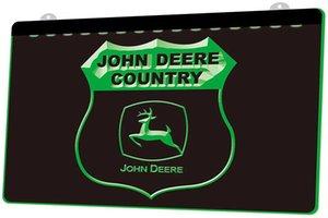 LD0497 (g) Accedi John Deere Paese della luce al neon decorazione Dropshipping di spedizione libero all'ingrosso 8 colori tra cui scegliere