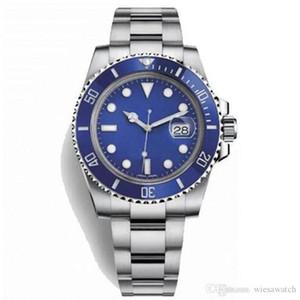 Cadran bleu lumineux Mens Watch Comme une étoile dans la nuit en céramique Lunette en acier inoxydable 2813 Hommes Mécanique Automatique Montres-bracelets