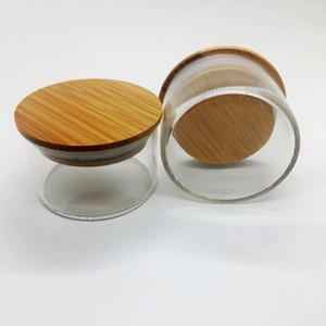 Pirex de vidro seco Herb Tobacco Smoking Caixa de armazenamento Caixa Jar Bottle Titular portátil com madeira Capa Seal Grinder Acessórios DHL grátis